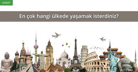 Anket: Hangi ülkede yaşamak istersiniz?