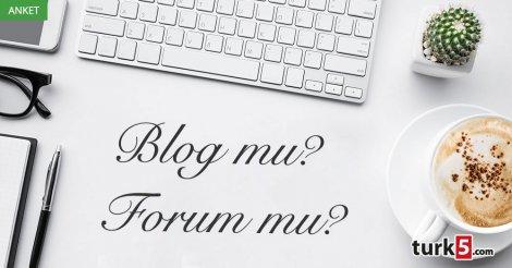 Anket: Blog mu? Forum mu?
