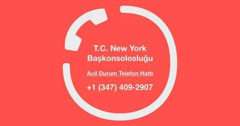 DUYURU: T.C. New York Başkonsolosluğu (COVID-19)