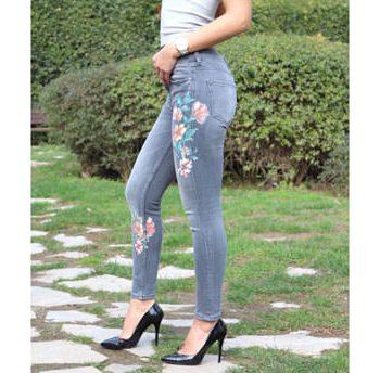 Çiçek Basklı Skinny Jean   ItsModa.com