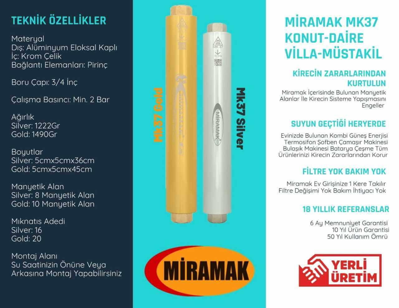 3/4inc Villa Daire Manyetik Kireç Önleyici   MK37Gold