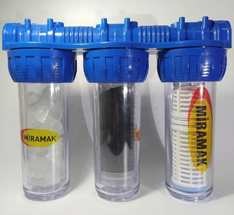 3'lü Silifoz + Aktif Karbon + Yıkanabilir Filtre