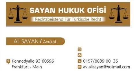 Sayan Hukuk ve Tercümanlık Ofisi
