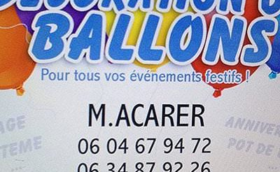 Balon Süsleme Acarer