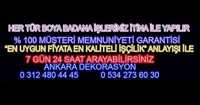 Ankara Boya-Badana-Dekorasyon