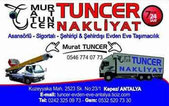 Tuncer Evden Eve Nakliyat   Antalya